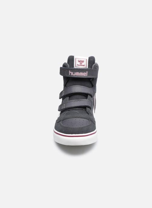Baskets Hummel Stadil Pro Jr 2 Marron vue portées chaussures