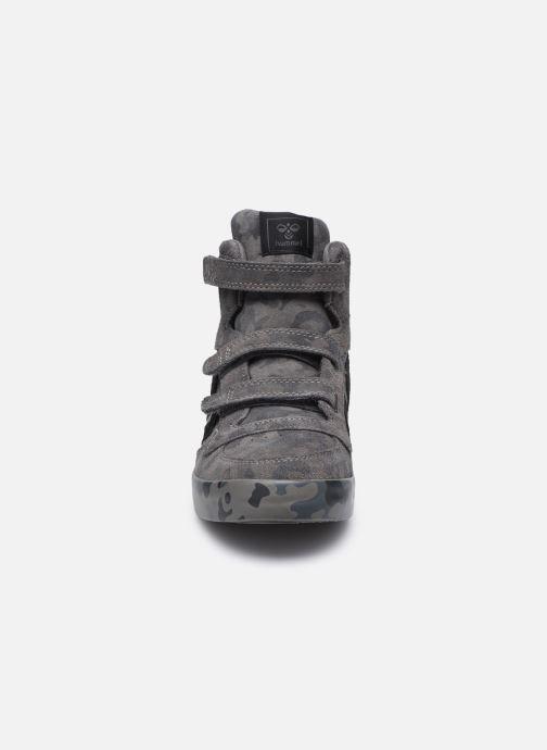 Baskets Hummel Stadil Camo Jr Noir vue portées chaussures