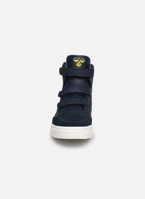 Sneaker Hummel Stadil Check Jr blau schuhe getragen
