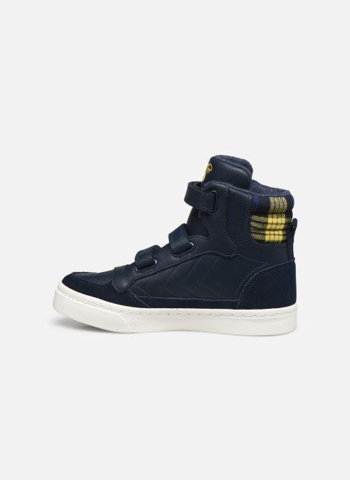 Sneaker Hummel Stadil Check Jr blau ansicht von vorne