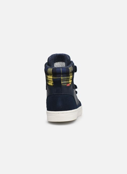 Sneaker Hummel Stadil Check Jr blau ansicht von rechts