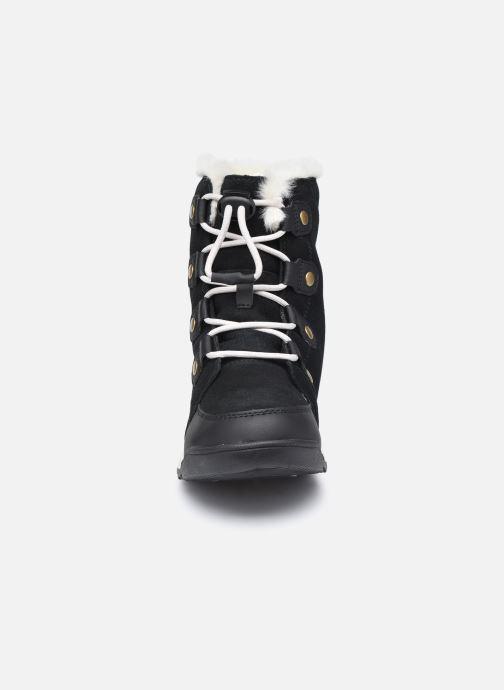 Stiefeletten & Boots Sorel Youth Whitney II Suede schwarz schuhe getragen