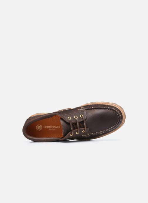 Zapatos con cordones Lumberjack HALLBERG BOAT SHOE Marrón vista lateral izquierda
