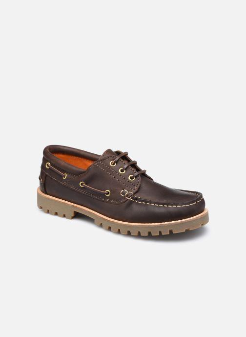 Zapatos con cordones Lumberjack HALLBERG BOAT SHOE Marrón vista de detalle / par