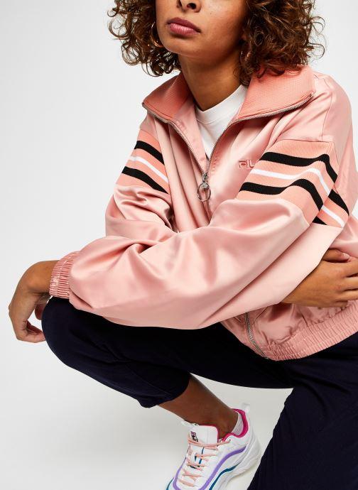 Vêtements FILA Telly Satin Jacket Rose vue détail/paire