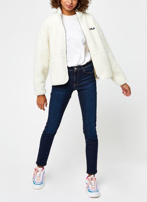 Vêtements FILA Sari Sherpa Fleece Jacket Beige vue bas / vue portée sac
