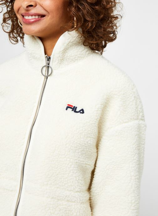 Vêtements FILA Sari Sherpa Fleece Jacket Beige vue face