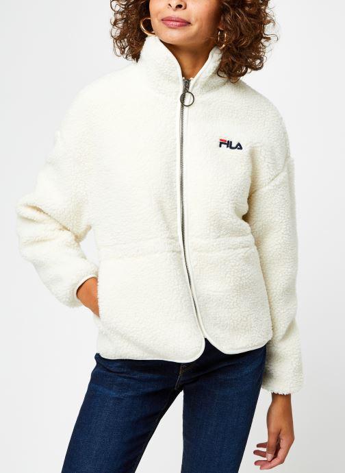 Vêtements FILA Sari Sherpa Fleece Jacket Beige vue droite
