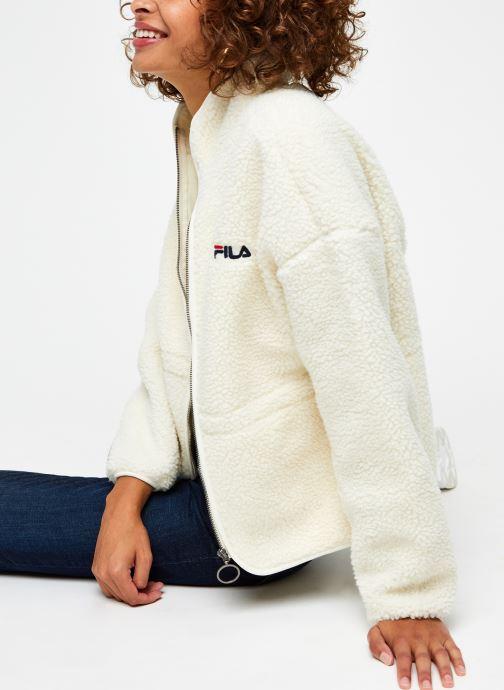 Vêtements FILA Sari Sherpa Fleece Jacket Beige vue détail/paire