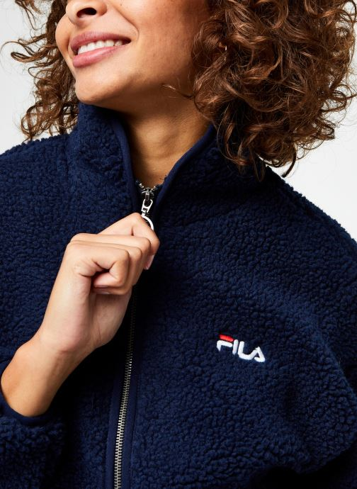 Vêtements FILA Sari Sherpa Fleece Jacket Bleu vue face