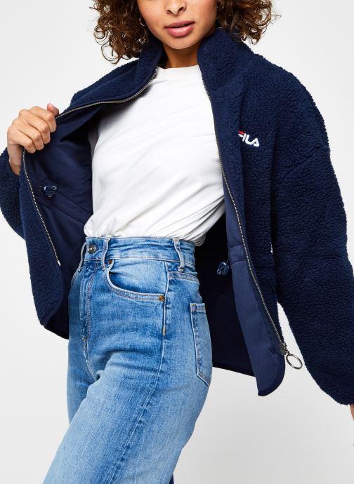 Vêtements FILA Sari Sherpa Fleece Jacket Bleu vue détail/paire