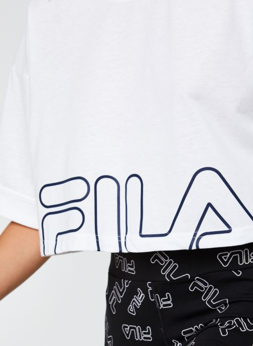 Vêtements FILA Lamia Wide Tee Blanc vue face