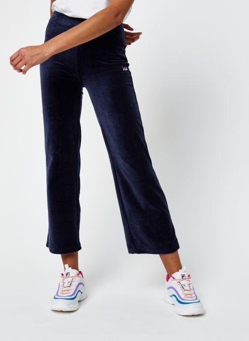 Vêtements FILA Bian Cropped Velvet Pant Bleu vue détail/paire