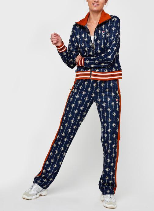 Vêtements FILA Hamo AOP Track Jacket Bleu vue bas / vue portée sac