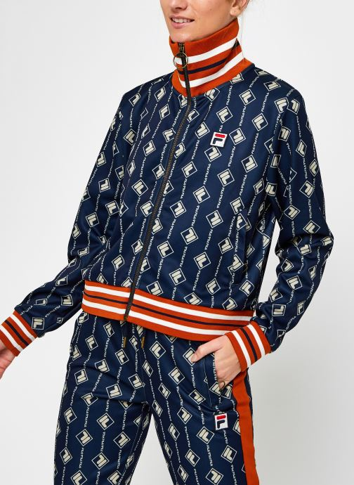 Vêtements FILA Hamo AOP Track Jacket Bleu vue droite
