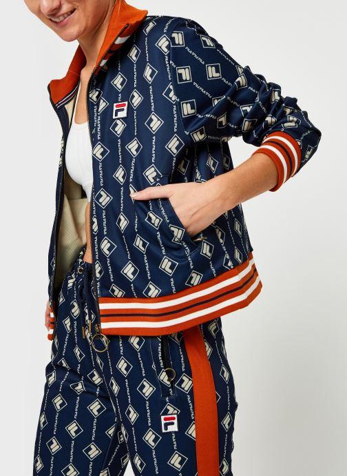 Vêtements FILA Hamo AOP Track Jacket Bleu vue détail/paire