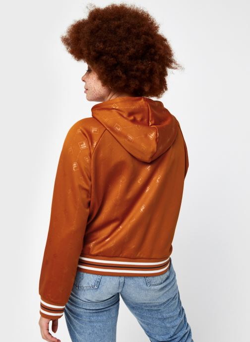Vêtements FILA Helen Hoody Orange vue portées chaussures