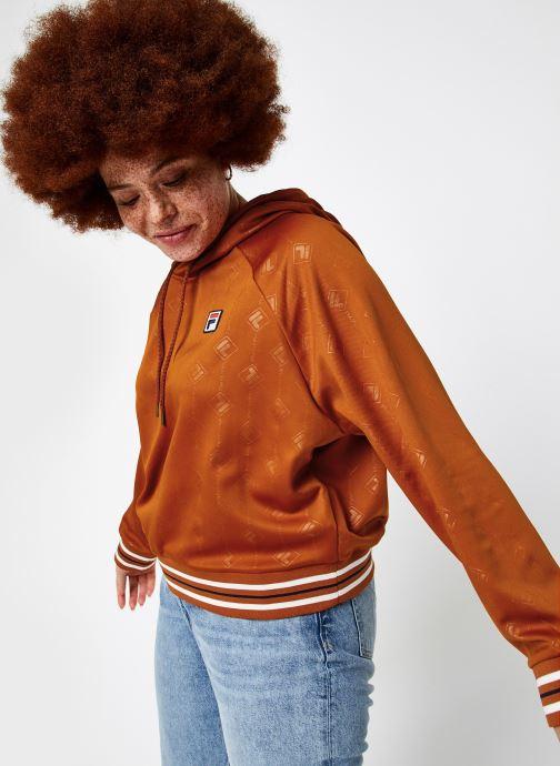 Vêtements FILA Helen Hoody Orange vue droite