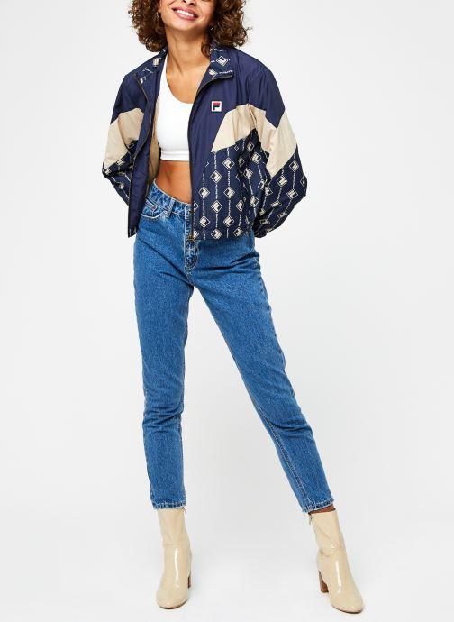 Vêtements FILA Harini Woven Jacket Bleu vue bas / vue portée sac