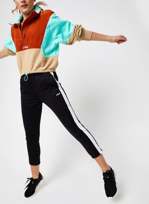 Vêtements FILA Walta Half Zip Fleece Shirt Beige vue bas / vue portée sac