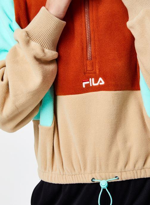 Vêtements FILA Walta Half Zip Fleece Shirt Beige vue face