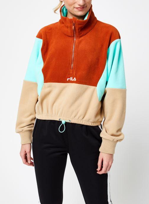 Vêtements FILA Walta Half Zip Fleece Shirt Beige vue droite