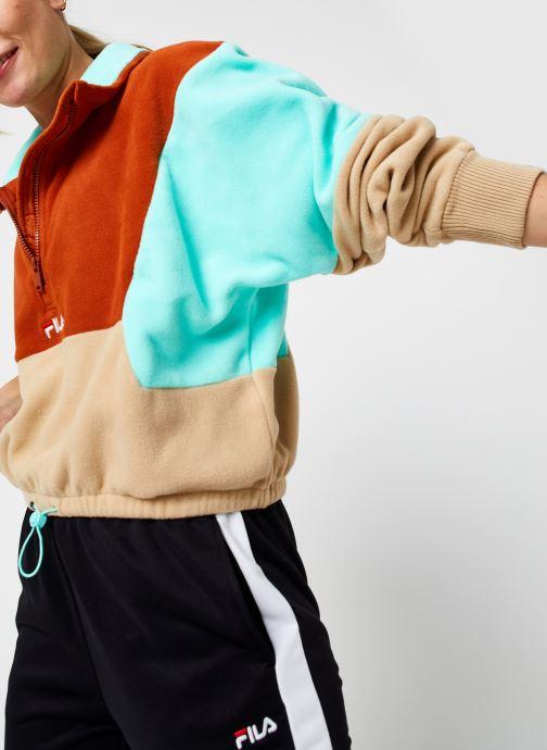 Vêtements FILA Walta Half Zip Fleece Shirt Beige vue détail/paire