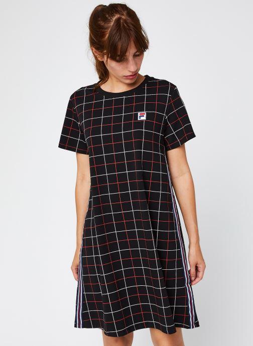 Vêtements FILA Winona AOP Tee Dress Noir vue droite