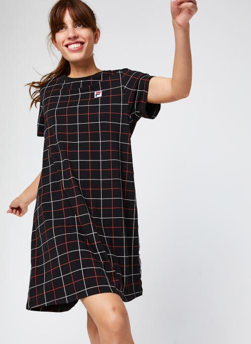 Vêtements FILA Winona AOP Tee Dress Noir vue détail/paire