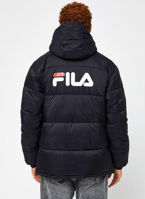 Vêtements FILA Scooter Puffer Jacket Noir vue portées chaussures