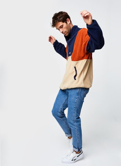 Vêtements FILA Wafa Blocked Half Zip Fleece Beige vue bas / vue portée sac