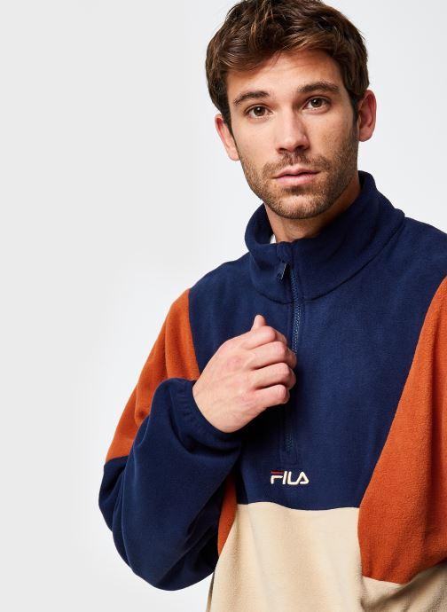 Vêtements FILA Wafa Blocked Half Zip Fleece Beige vue face