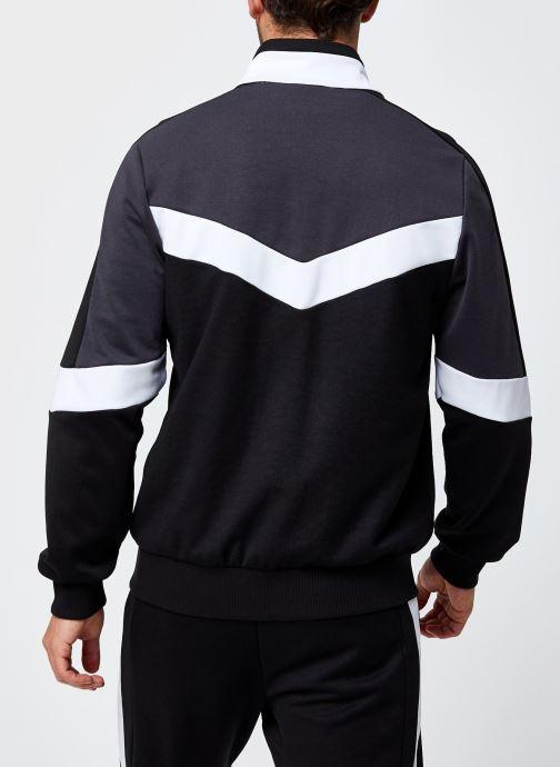 Vêtements FILA Batson Track Jacket Noir vue portées chaussures