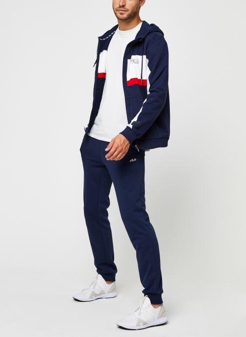 Vêtements FILA Lauro Hooded Jacket Bleu vue bas / vue portée sac