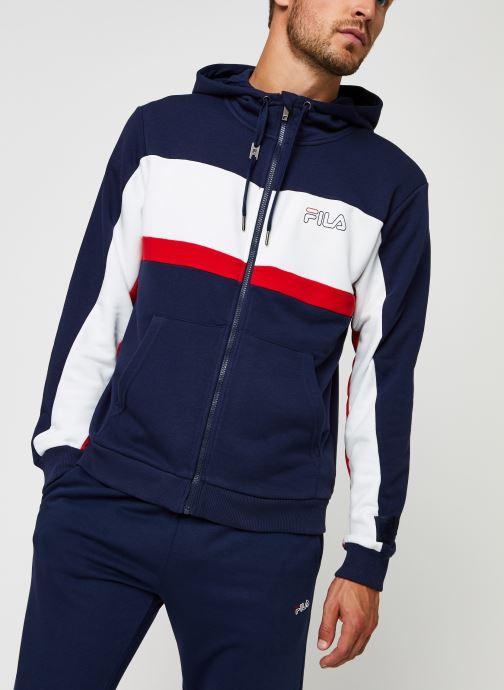 Vêtements FILA Lauro Hooded Jacket Bleu vue droite
