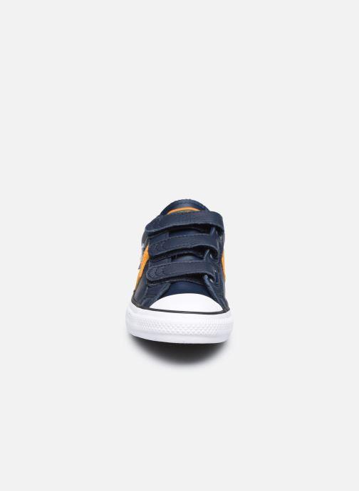 Baskets Converse Star Player 3V Leather Twist Ox Bleu vue portées chaussures