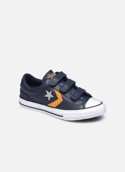 Baskets Converse Star Player 3V Leather Twist Ox Bleu vue détail/paire