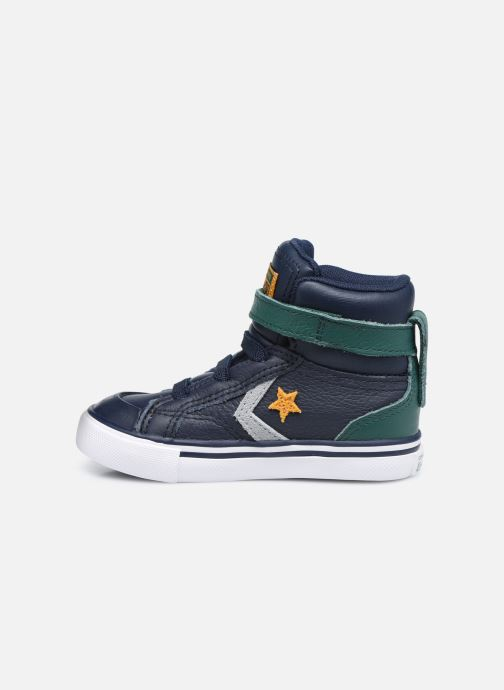 Sneakers Converse Pro Blaze Strap Leather Twist Hi Azzurro immagine frontale