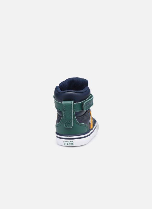 Sneakers Converse Pro Blaze Strap Leather Twist Hi Azzurro immagine destra