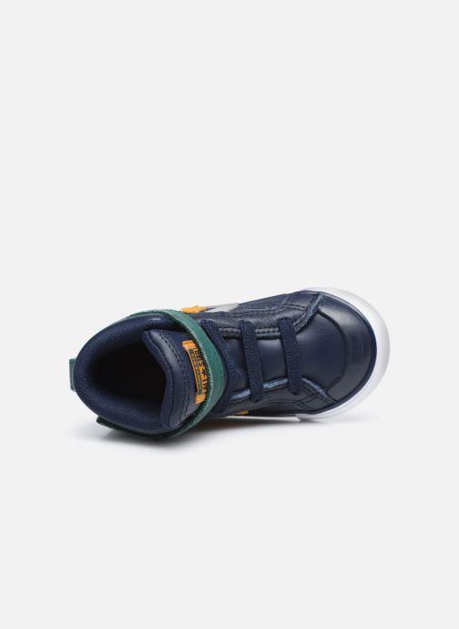 Sneakers Converse Pro Blaze Strap Leather Twist Hi Azzurro immagine sinistra