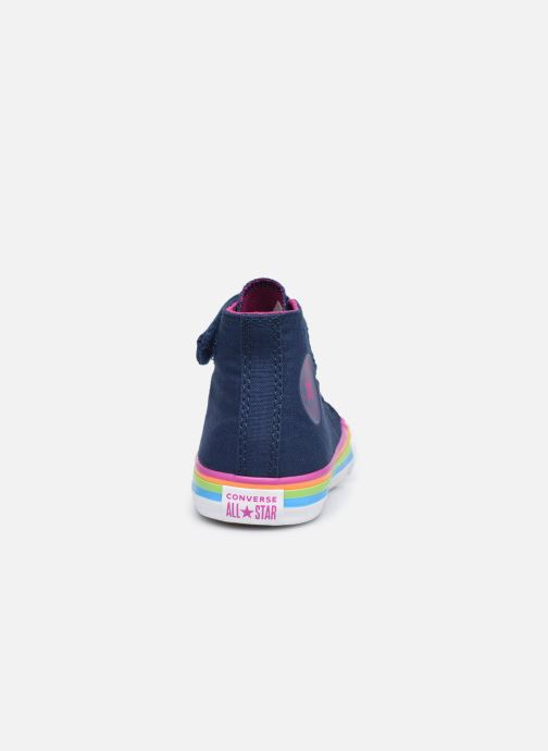 Sneaker Converse Chuck Taylor All Star 1V Canvas Multi-Stripe Hi blau ansicht von rechts