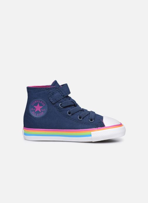 Sneaker Converse Chuck Taylor All Star 1V Canvas Multi-Stripe Hi blau ansicht von hinten