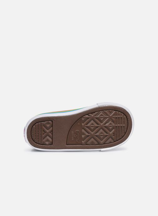 Sneaker Converse Chuck Taylor All Star 1V Canvas Multi-Stripe Hi blau ansicht von oben
