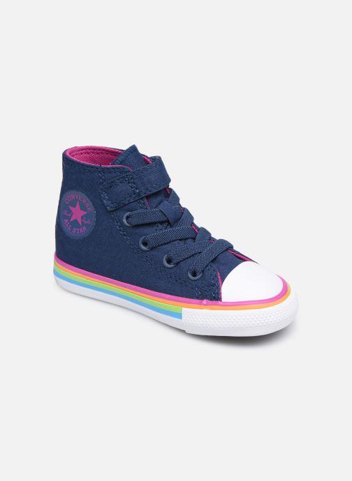Sneaker Converse Chuck Taylor All Star 1V Canvas Multi-Stripe Hi blau detaillierte ansicht/modell