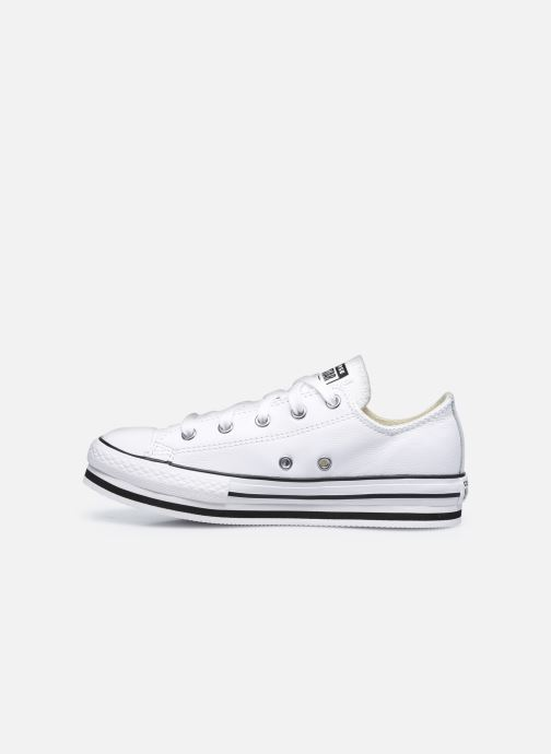 Sneakers Converse Chuck Taylor All Star Platform EVA Leather Ox Bianco immagine frontale