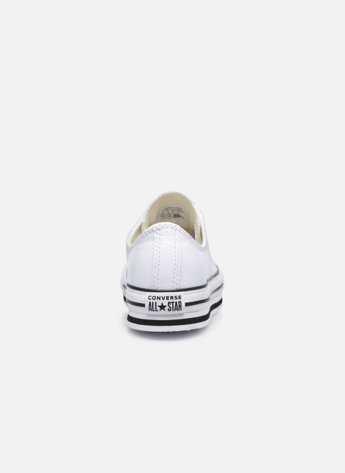 Sneakers Converse Chuck Taylor All Star Platform EVA Leather Ox Bianco immagine destra