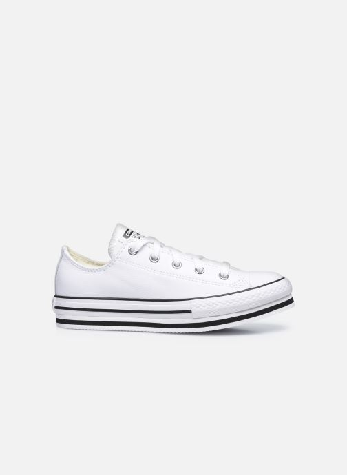 Sneakers Converse Chuck Taylor All Star Platform EVA Leather Ox Bianco immagine posteriore