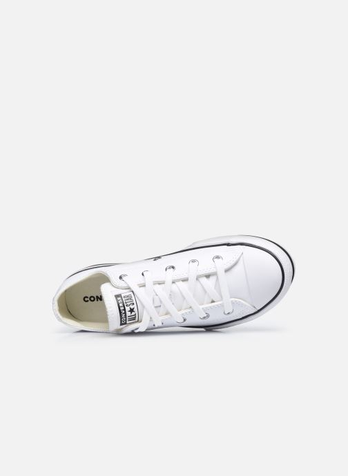 Sneakers Converse Chuck Taylor All Star Platform EVA Leather Ox Bianco immagine sinistra