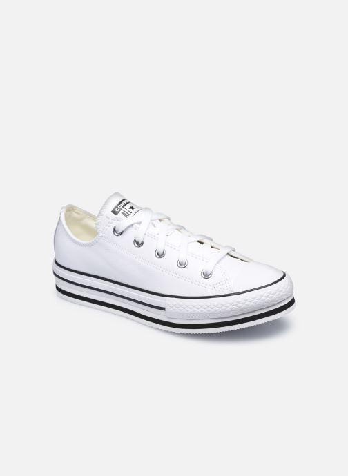 Sneaker Converse Chuck Taylor All Star Platform EVA Leather Ox weiß detaillierte ansicht/modell
