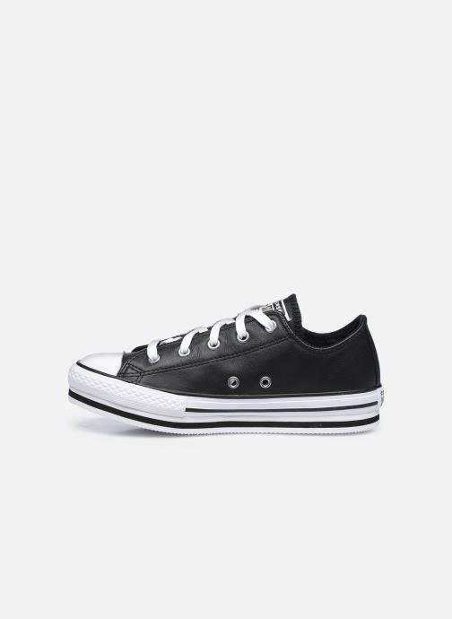Sneaker Converse Chuck Taylor All Star Platform EVA Leather Ox schwarz ansicht von vorne